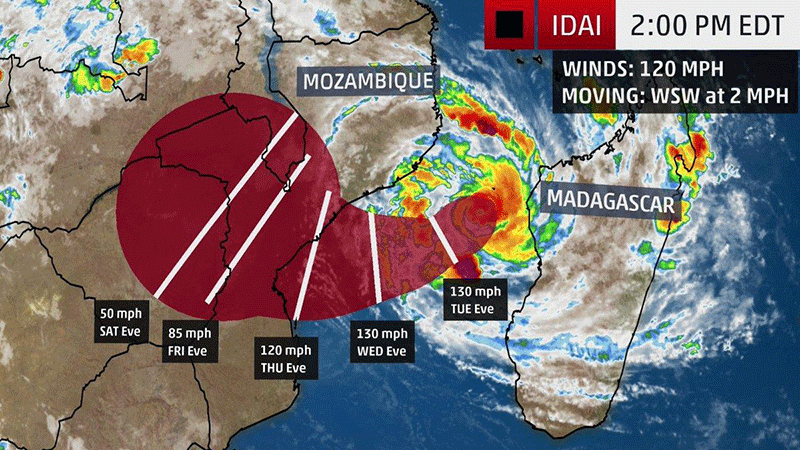 Mozambique cyclone