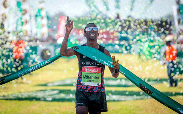 First ladies cross Comrades Marathon finish line