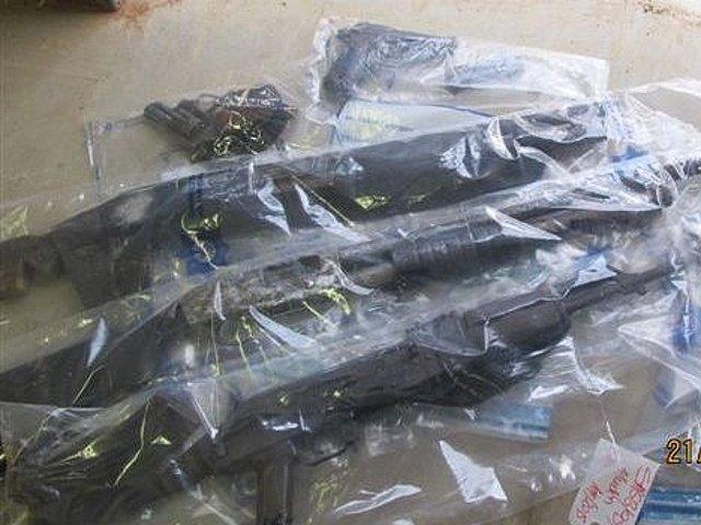Illegal guns seized in Muden raids