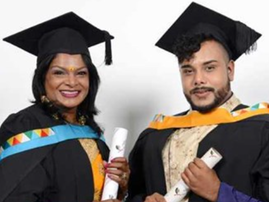 INSPIRING: Durban mum and son duo graduate together