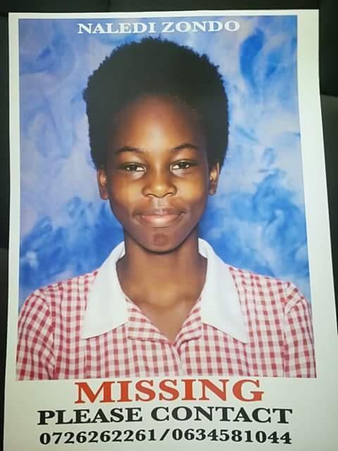 Missing Pietermaritzburg 13-year-old, Naledi