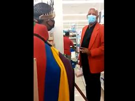 Thando Mahlangu Ndebele activist at Boulders Mall
