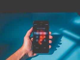 phone login screen