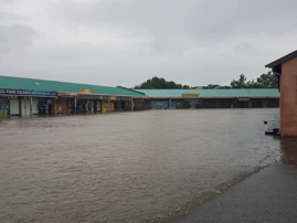 Businesses, homes submerged in water
