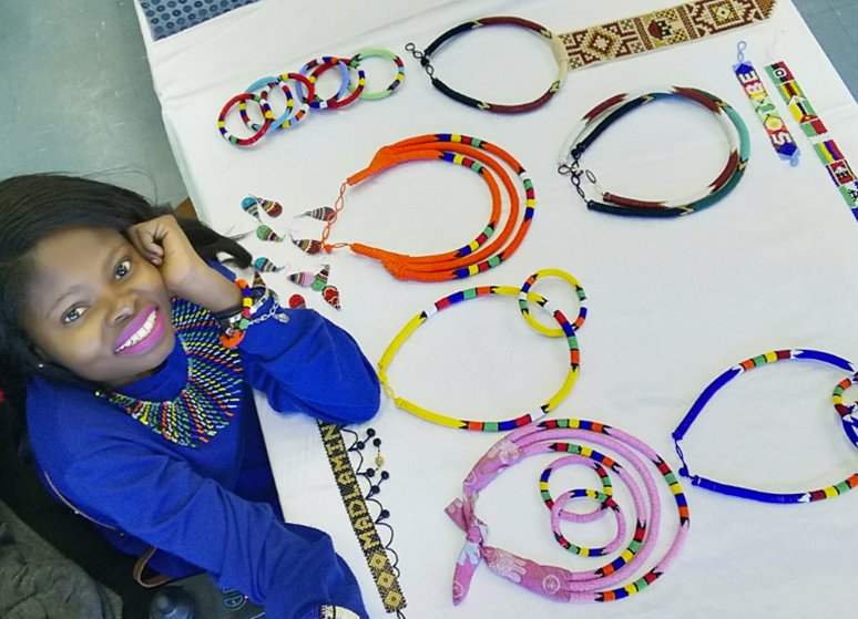 #HeartStuff: Nokwethemba sells beads to raise funds for a new wheelchair