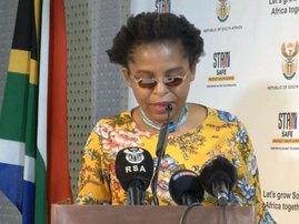 Khumbudzo Ntshavheni at post cabinet briefing