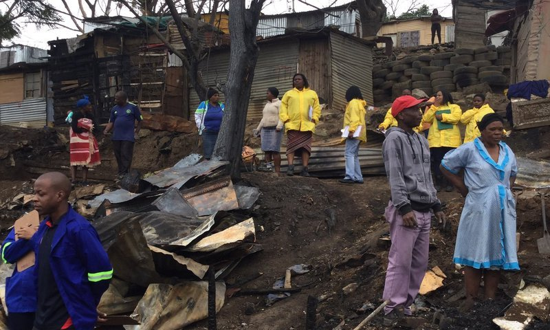 Kennedy road informal settlement fire