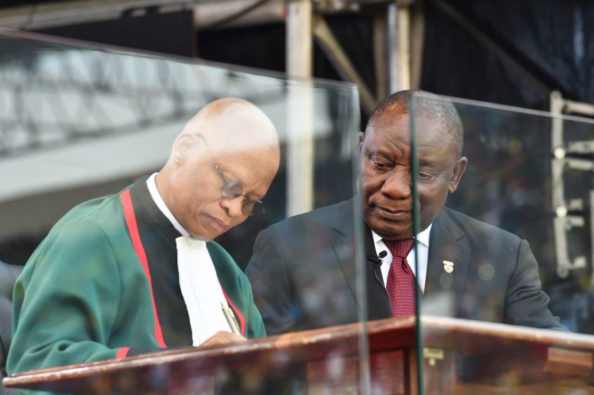 Ramaphosa signs oath