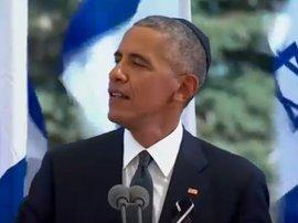 Pbama at Shimon Peres Funeral