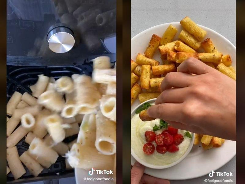 #PastaChips TikTok airfryer recipe