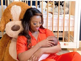 Pearl Modiadie and her baby