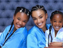 Pearl Thusi and her daughters