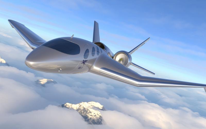 Pegasus jet in flight