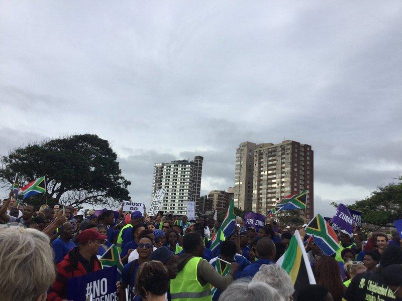 DA members march against Zuma
