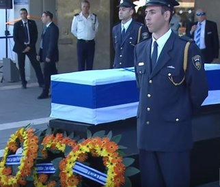 Peres last respects