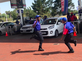 flash mob 1 petrol attendents