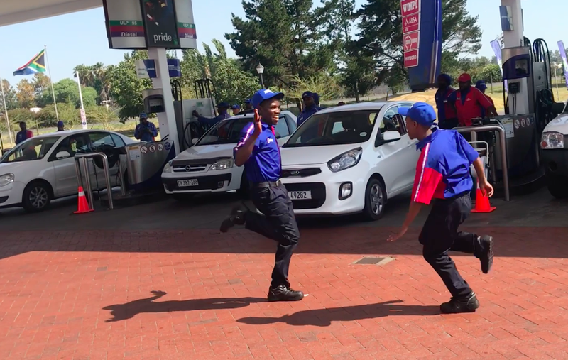 flash mob 1 petrol attendents