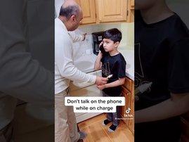 TikTok video of phone charging