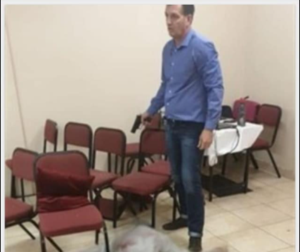 Querencia Ministries shooting Pieter van der Westhuizen with gun