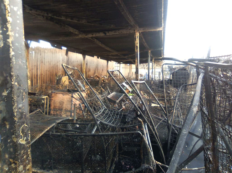 Storage facilities destroyed in Pinetown CBD fire