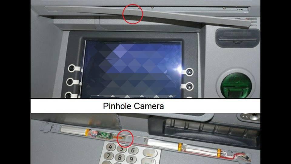 ATM fraud pinhole camera