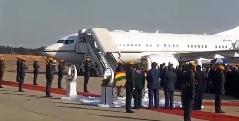 Mugabe plane