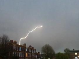 Plane hit by lightning