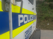 Police vehicle, crime scene