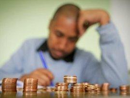 Poverty, money, coins
