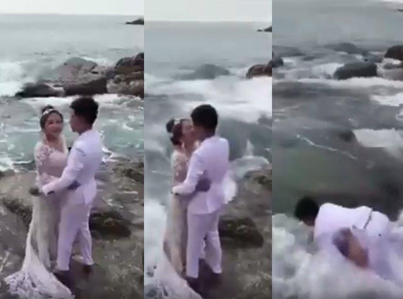 Watch romantic beach wedding shoot goes horribly wrong for East coast beach wedding locations