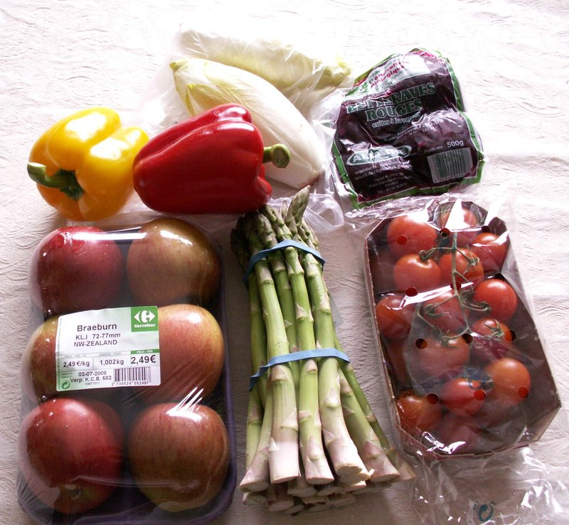 Pre packed vegetables