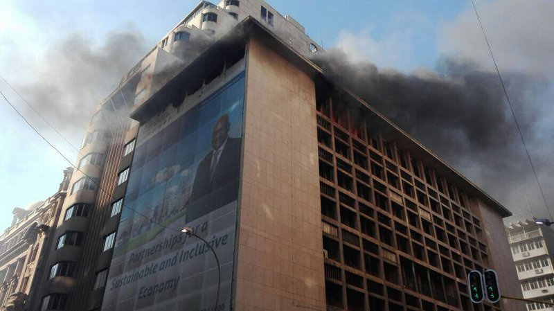 Fire at Gauteng premier's building contained
