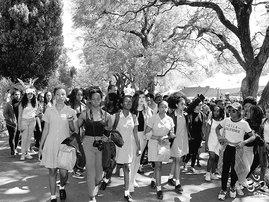 Protest at Pretoria Girls High