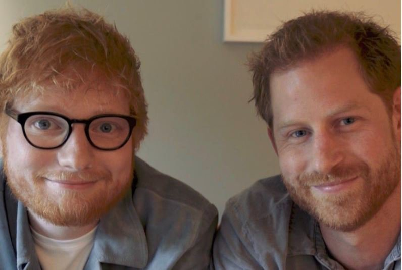 Prince Harry and Ed Sheeran