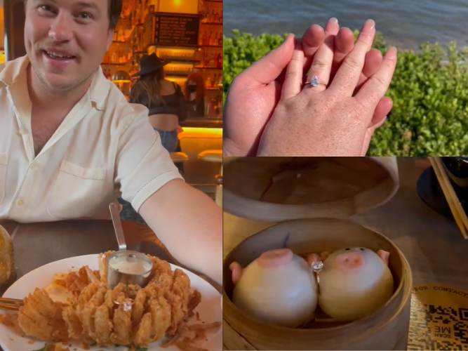 WATCH: A blooming proposal by onion ring leaves us in tears...