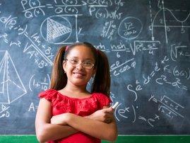 Pupil resolving complex Maths problem