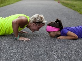 mom and daughter training