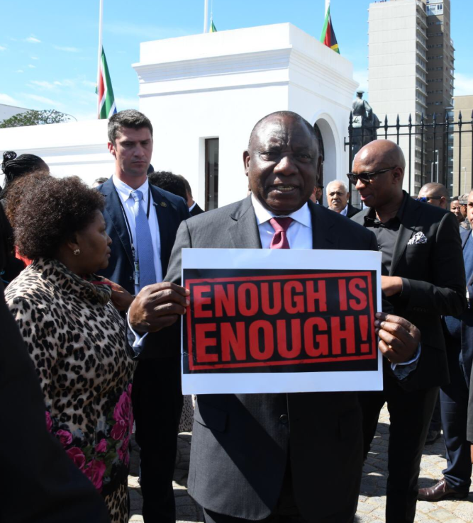 [LISTEN] Men must stop demanding sex for positions, pleads Ramaphosa