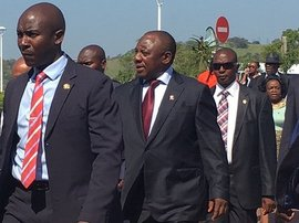 Ramaphosa in Ugu District-kn