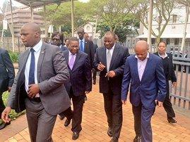 Ramaphosa in Durban