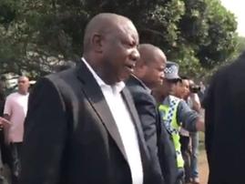 Cyril Ramaphosa makes a stop in Toti following KZZN