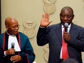 Cyril Ramaphosa sworn in