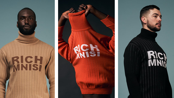 Rich Mnisi models wearing the clothes