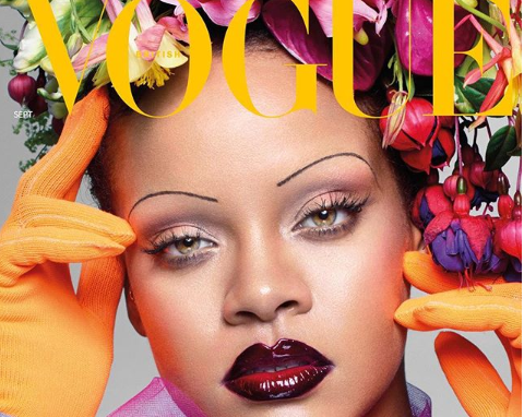 Rihanna 'Vogue' cover eyebrows