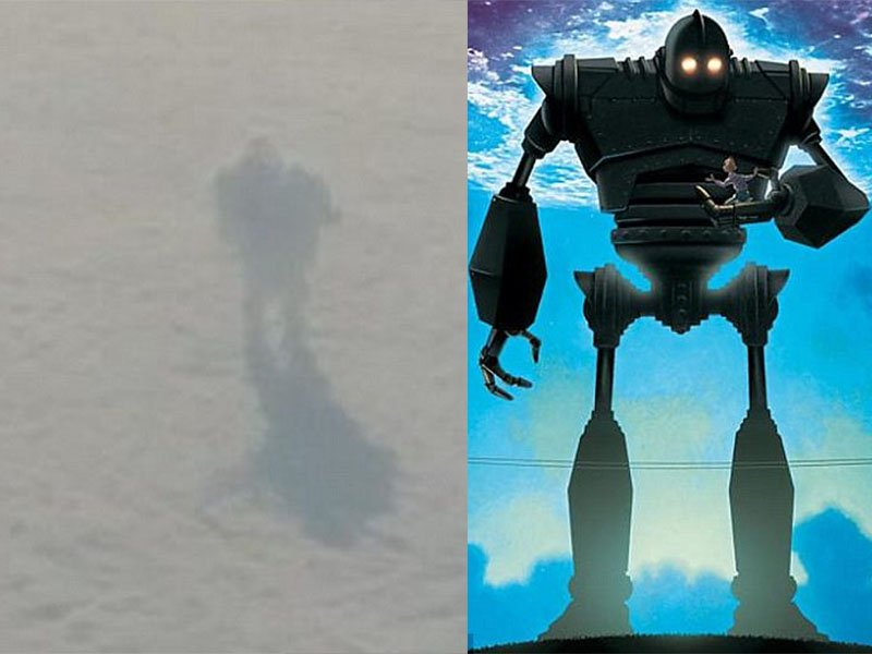Robot or shadow?