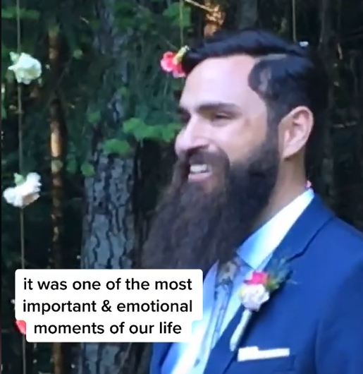 WATCH: A TikTok video showing a husband doing the most romantic thing before his bride arrives