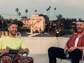 Sam Smith and Calvin Harris