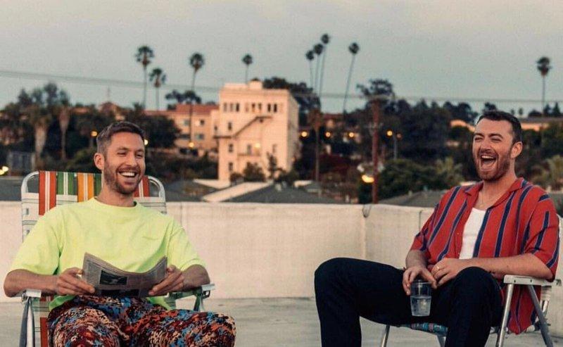 Sam Smith and Calvin Harris