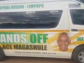 taxi with ANC Ace Magashule's face