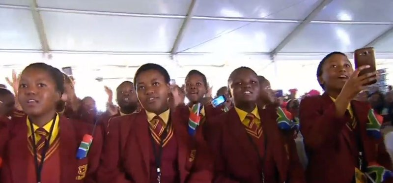school kids at the Youth day celebration